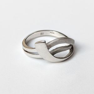 Jewelry - Matte And Shiny Sterling Ring
